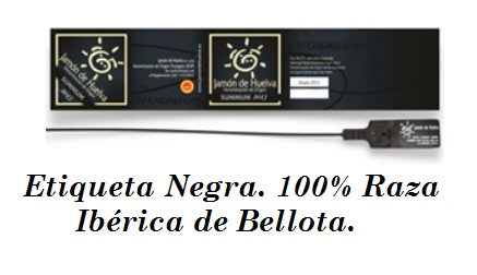 etiqueta negra 100% iberico