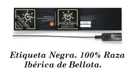 etiqueta negra 100% raza iberica de bellota