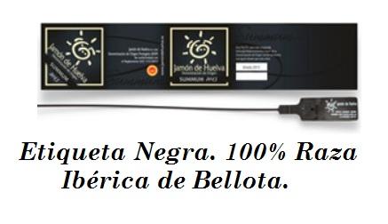 etiqueta negra 100% raza iberica