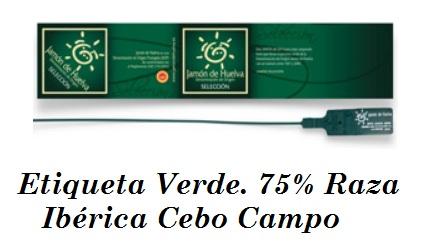 etiqueta verde raza iberica de cebo campo