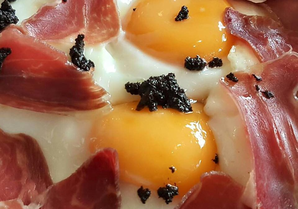 jamon iberico con huevos fritos